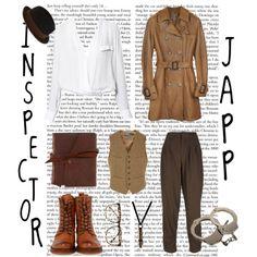 #Agathachristie #inspectorjapp #poirot #murdermystery #neutrals #workwear
