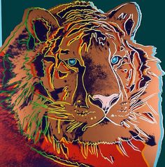 Andy Warhol, 'Endangered Species, Siberian Tiger', 1983. Screenprint in colors, signed in pencil and numbered from the edition of 150 - by Dreweatts & Bloomsbury