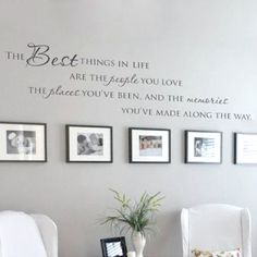 The Best Things In Life Vinyl wall decals ~ Love Memories Wall Quote Home Art Vinyl Decal Sticker - On Trends Avenue Memory Wand, Family Wall, Quote Family, Family Room, Family Life, Vinyl Wall Decals, Vinyl Wall Quotes, Home Art, Living Room Decor