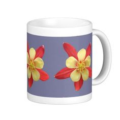 Red and Yellow #Flower #Mug