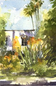 """Sherry Schmidt - Small watercolor for a 20-30 minute challenge, 6x4"""""""