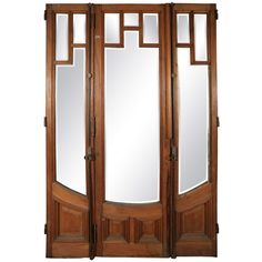 Art Deco Three-Door Set with Beveled Glass | From a unique collection of antique and modern doors and gates at https://www.1stdibs.com/furniture/building-garden/doors-gates/
