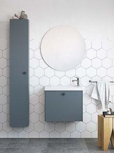 | Badrumsinspiration | Badrumsskåp i serien Compact i färgen djupblå. För dig med mindre badrum | Ballingslöv.