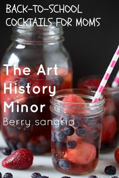 It's OK to drink white zin when it's turned into this berry-infused #sangria. #drinks #drinkrecipes #cocktailrecipes