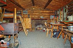 The cozy interior of the Dick Proenneke cabin. Twin Lakes, Alaska. Photography by Joseph Classen.
