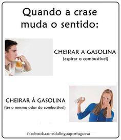 quando a crase muda o sentido Learn Brazilian Portuguese, Portuguese Lessons, Portuguese Language, Study Notes, Student Life, Bts Memes, Teacher, Humor, Learning