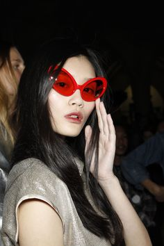 Ming Xi, backstage at Giles Spring 2012 Ready to Wear
