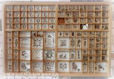 another cool idea for my printer's trays Beaded Embroidery, Cross Stitch Embroidery, Cross Stitch Designs, Cross Stitch Patterns, Letterpress Drawer, Stitch Box, Printers Drawer, Display Case, Shadow Box