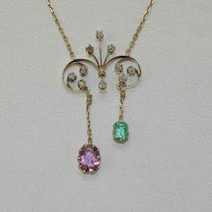Edwardian Jewelry, Edwardian Fashion, Antique Jewelry, Vintage Jewelry, Edwardian Style, Suffragette Jewellery, Suffragette Colours, Jewelry Box, Jewelry Making