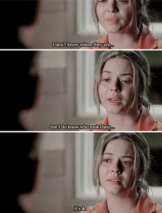 Sasha Pieterse (Alison DiLaurentis) - Pretty Little Liars Pretty Little Liars, Tyler Blackburn, Funny Scenes, Classic Series, Best Shows Ever, Gossip Girl, Favorite Tv Shows, Movie Tv, It Cast