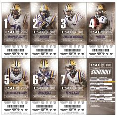 LSU Ticket Stock on Behance