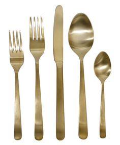 Canvas Home Gold Oslo Cutlery Set - Flatware - Shop Nectar - 1