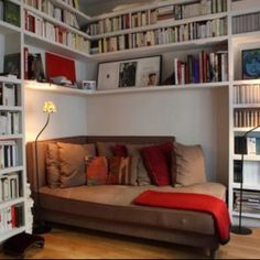 Reading nook in the corner