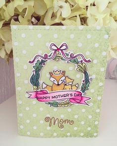 Happy mother's day!  #lawnfawn #mamaelephant #sizzix #clearstamps #cardmaking #selfmade #watercolor #watercoloring #zigcleancolor #copicmarkers #embossing #cute #fox #floral #planner #filofax #kikkik #katespade #sizzixbigshot #websterspages #erincondren #happyplanner #mothersday by peppermintandfox