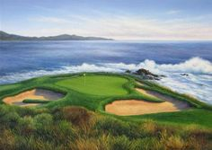 Pebble Beach 7th Hole (#117) http://www.golfcourseartwork.com/golf-prints/us-open/pebble-beach/pebble-beach-7th-hole-117