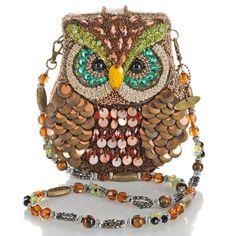 """Mary Frances """"Night Owl"""" Beaded Handbag"""
