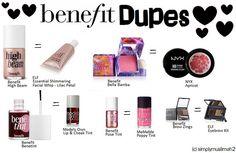 Benefit Makeup Dupes