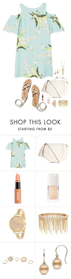 """""""Untitled #1233"""" by nine-nine ❤ liked on Polyvore featuring MANGO, NYX, Christian Dior, Jenny Packham and GUESS"""