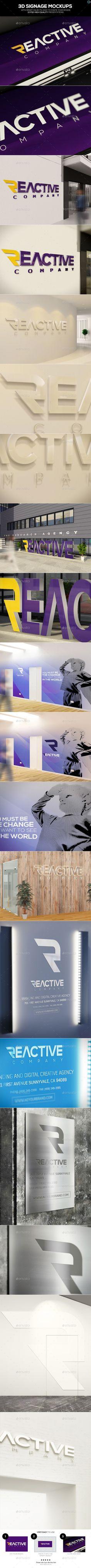 3D Signage Mockups #design #presentation Download: http://graphicriver.net/item/3d-signage-mockups/11891602?ref=ksioks