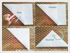 création fleur en papier 1