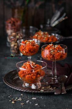 Gajar Halwa Microwave Recipes, Cooking Recipes, Vegan Recipes, Indian Dessert Recipes, Indian Sweets, Indian Snacks, Sweets Photography, Comida India, India Food