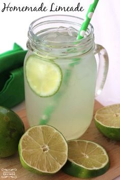 1 cup Sugar 1 cup Lime Juice 5 cup Water Lime Slices for garnish
