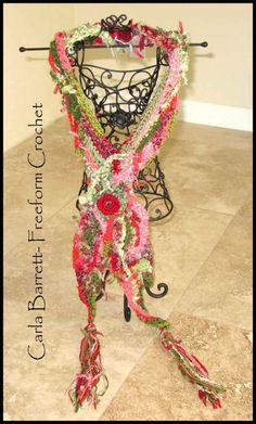Carla's Freeform Crochet Scarf Tutorial, amazing artist and website full of tutorials!