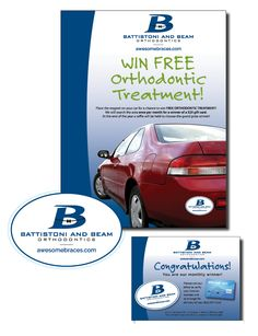 Battistoni and Beam Orthodontics - Winter/spring campaign poster, magnet, postcard