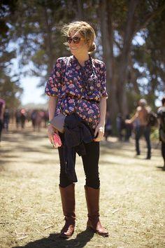 Outside Lands Boho Fashion: Rad boots.