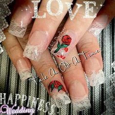 Capsuled lace Hidden Mickey Disney nails Beauty and the best