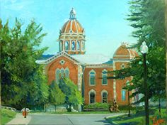 TF22216 HASTINGS COURTHOUSE 1000 by Tom Fisher Oil ~ 16 x 20