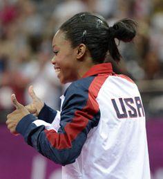 Awesome!  Gabrielle Douglas (Mandatory Credit: Robert Deutsch-USA TODAY Sports)