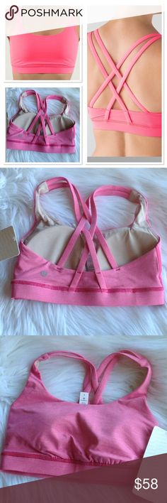 JUST IN✔️ LULULEMON BRA NWT Energy Bra by Lululemon size 4 this bra is intended to provide medium support for a B/C cup 🚫NO TEADES 🚫Bra cups included. lululemon athletica Tops