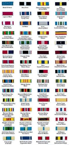 US Navy & Marine Corps Medals (Order of precedence) Military Awards, Military Ranks, Military Insignia, Military Service, Military Weapons, Navy Insignia, Military Uniforms, Us Navy, Navy Marine