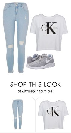 """""""Untitled #46"""" by flying-tiger ❤ liked on Polyvore featuring River Island, Calvin Klein and NIKE"""
