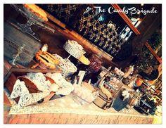 The Candy Brigade - Wedding & Shower Gallery - Somersville, CT Rustic Candy Buffet, Dessert Buffet, Candy Table, Pie Dessert, Dessert Tables, Custom Candy, Pie Cake, Anniversary Parties, Rustic Wedding