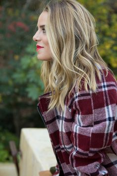 Long angled bob, blonde #fall #hair