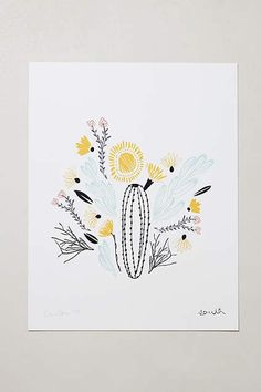 50 Cool Decorating Pieces Under $50 from Anthropologie: Botanical Print, $38