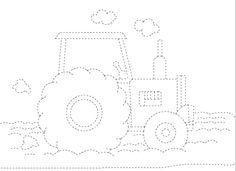 tractor trace worksheet | Crafts and Worksheets for Preschool,Toddler and Kindergarten