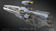 This is the Binary Rifle, originally created for Halo 4, then updated with higher fidelity textures for Halo 5.