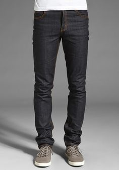 Men's Denim Skinny Jeans. Who'da thunk it would look right on me ...