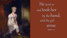 Matthew 9:25