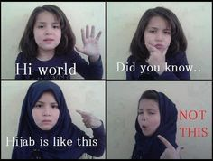 How should hijab wore