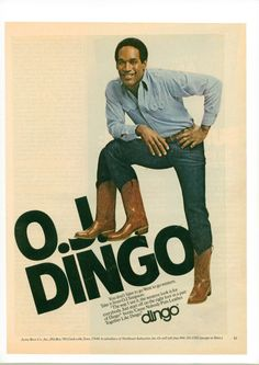 60985ef2239 15 Best Dingo Boots Ads, mostly OJ. images in 2016 | Dingo boots ...