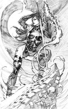 Psylocke by Philip Tan *