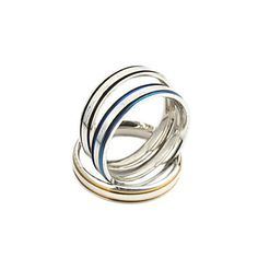 unisex strip patroon titanium stalen ring – EUR € 2.75