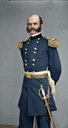 Major General Ambrose Burnside Standing Portrait. He is best known for snatching Defeat from the jaws of Victory !