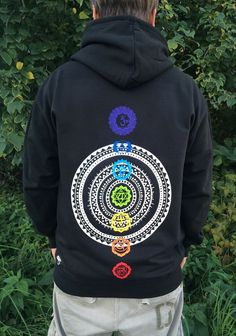 chakra hoodie, sweatshirt, yoga, hippie, gypsy, mandala