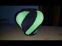 Tutorial Jarrón en Origami 3D - YouTube