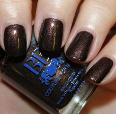 Selfish - A deep chocolate brown with heavy gold shimmer and larger red glitter.